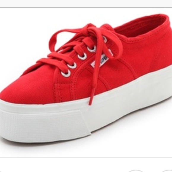 8452a1b8c8c3 Superga Shoes - Red platform supergas